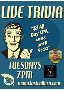 Tuesday Trivia Sponsored by Founders Brewing @ Higher Gravity | Cincinnati | Ohio | United States